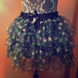 Hot Topic Skull Tutu, One size fits all
